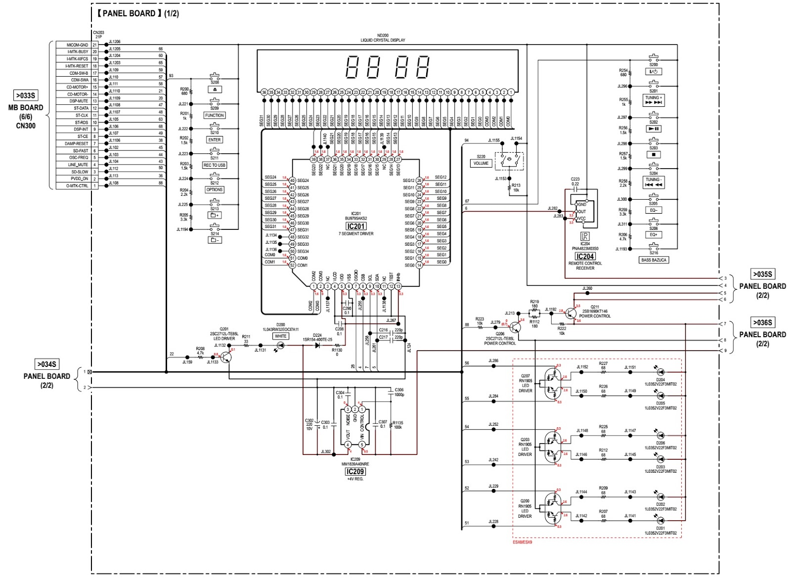 Sony Hcd Esx6 Esx8 Esx9 Compact Disc Receiver Smps And Front Block Diagram Iphone 5 Panel Schematic
