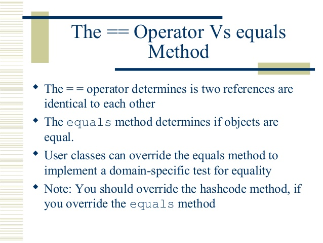 java writing an equals method
