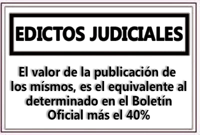 Edictos Judiciales