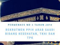 Permenkes No 3 Tahun 2018 Tentang Rekrutmen Tenaga Kesehatan Haji