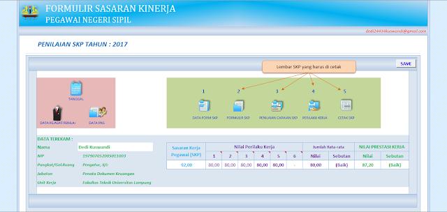 Download Aplikasi Excel Formulir SKP Terbaru