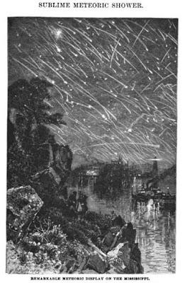 Apocalypse  . Une  pluie  de météorite  s' abat  sur  terre   1833meteors