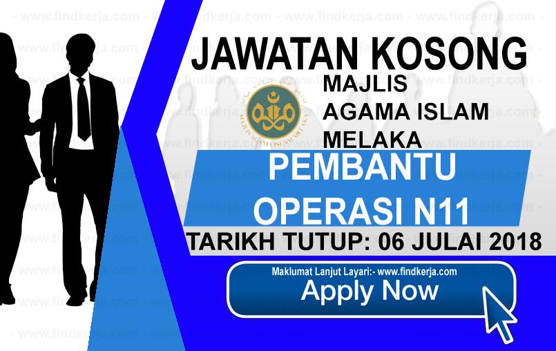 Jawatan Kerja Kosong Majlis Agama Islam Melaka - MAIM logo www.ohjob.info www.findkerja.com julai 2018