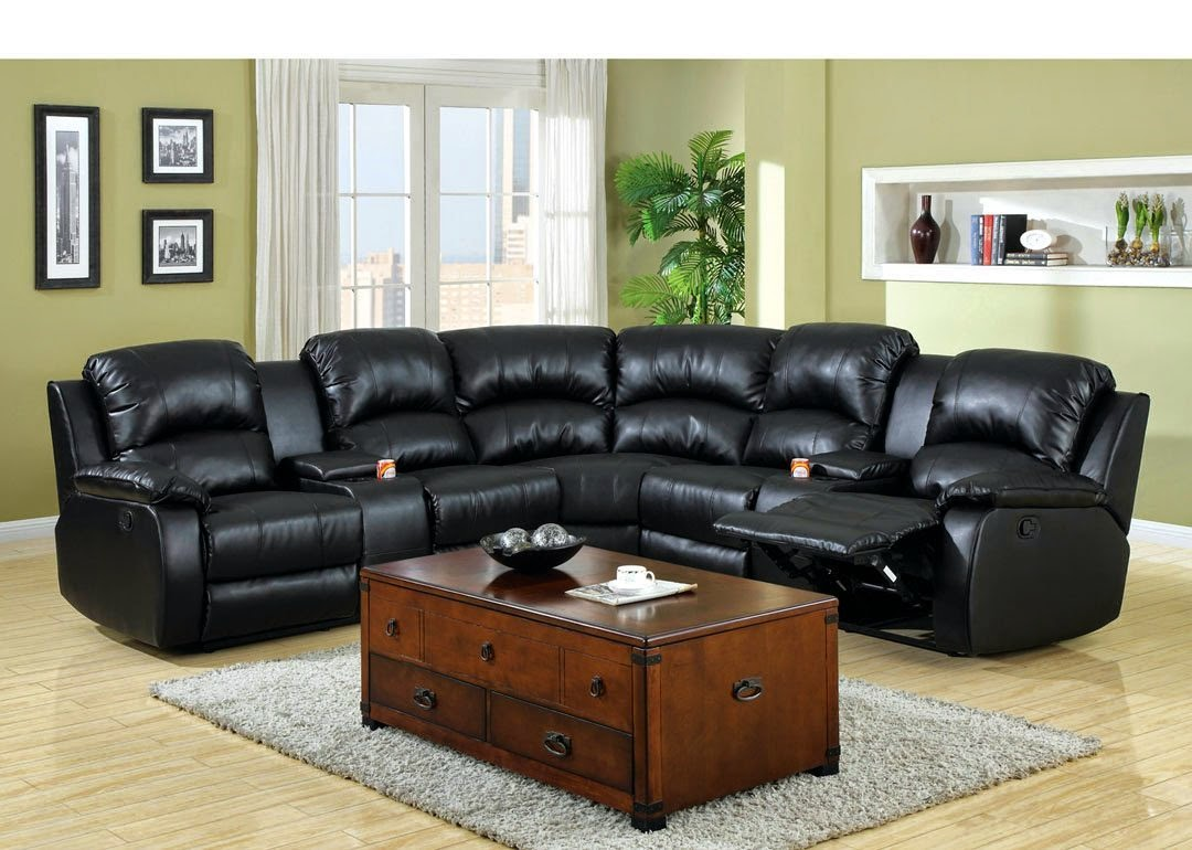 Leather Sectional Sofas With Recliners | MysteRabbit.com
