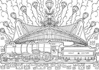 Great Western Coloring in book