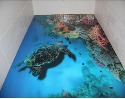 bathroom 3D floor designs & murals