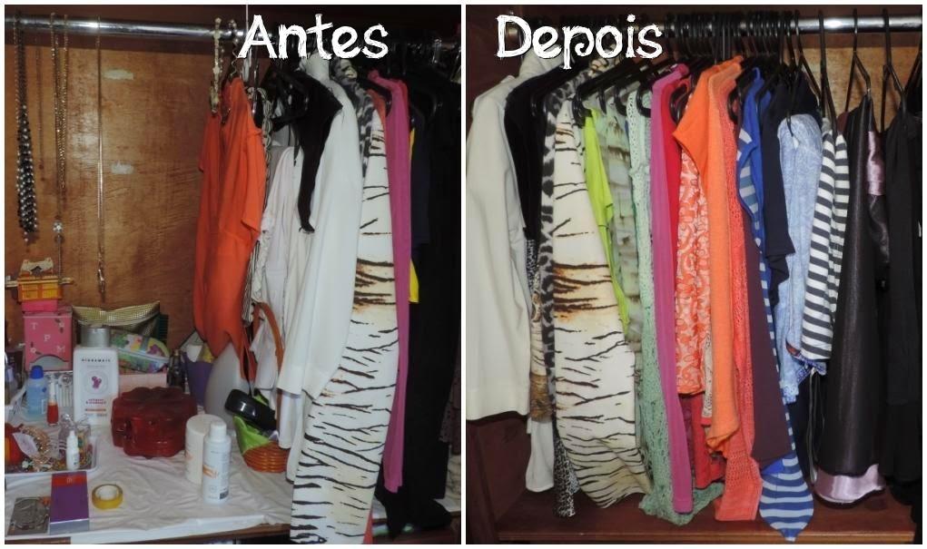 Arrumando o guarda roupa