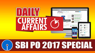 DAILY CURRENT AFFAIRS   SBI PO 2017   16.04.2017