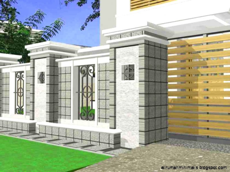 Pagar Rumah Modern Design Rumah Minimalis