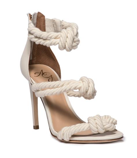Alejandra G Caprese Rope Heels in beige