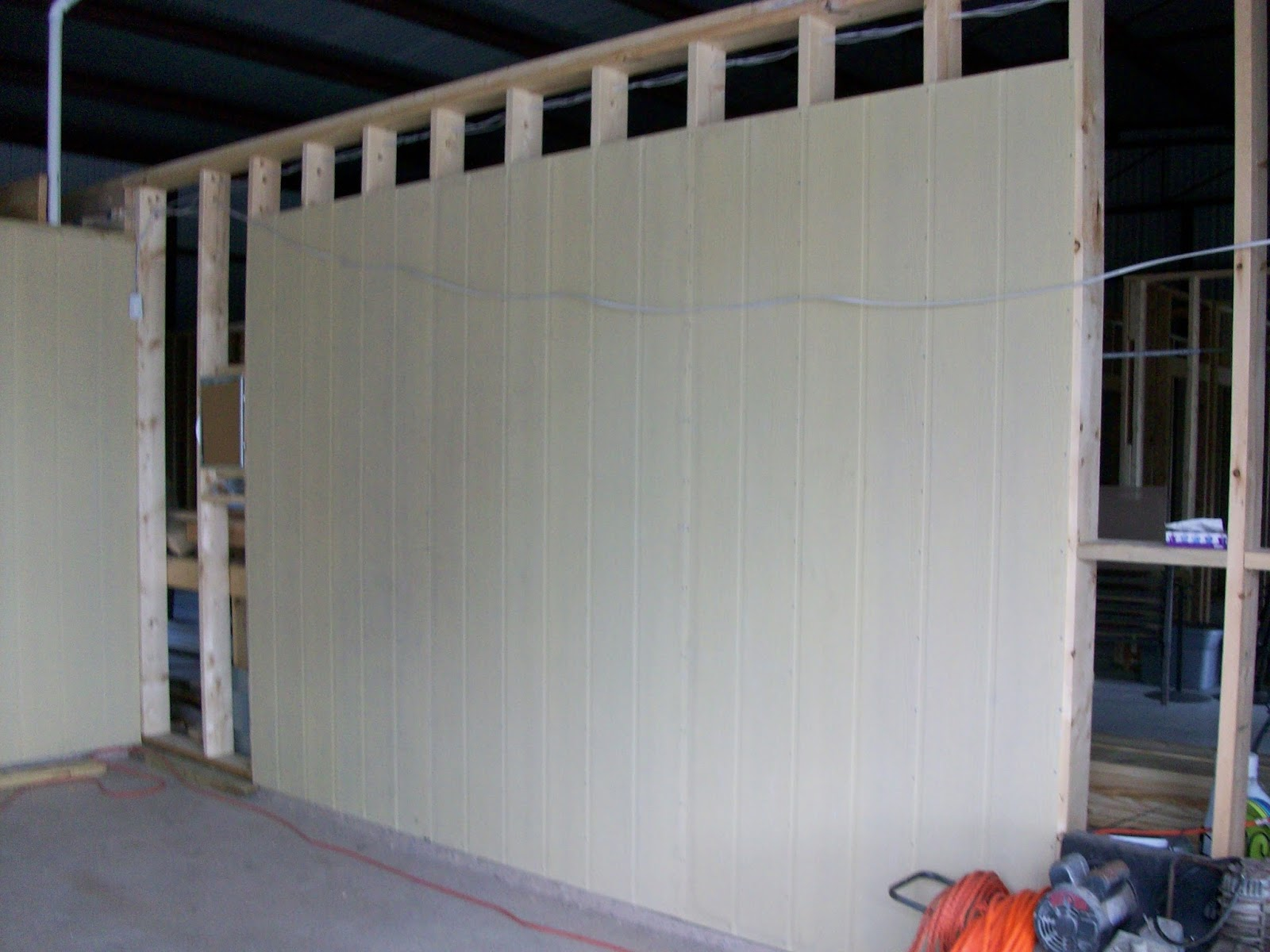 Barndominium Interior Garage Walls