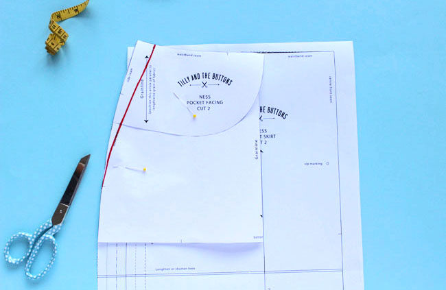 Fitting the Ness skirt sewing pattern - Tilly and the Buttons