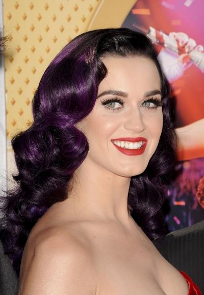 Katy Perry: Katyperry Dark Purple Hair