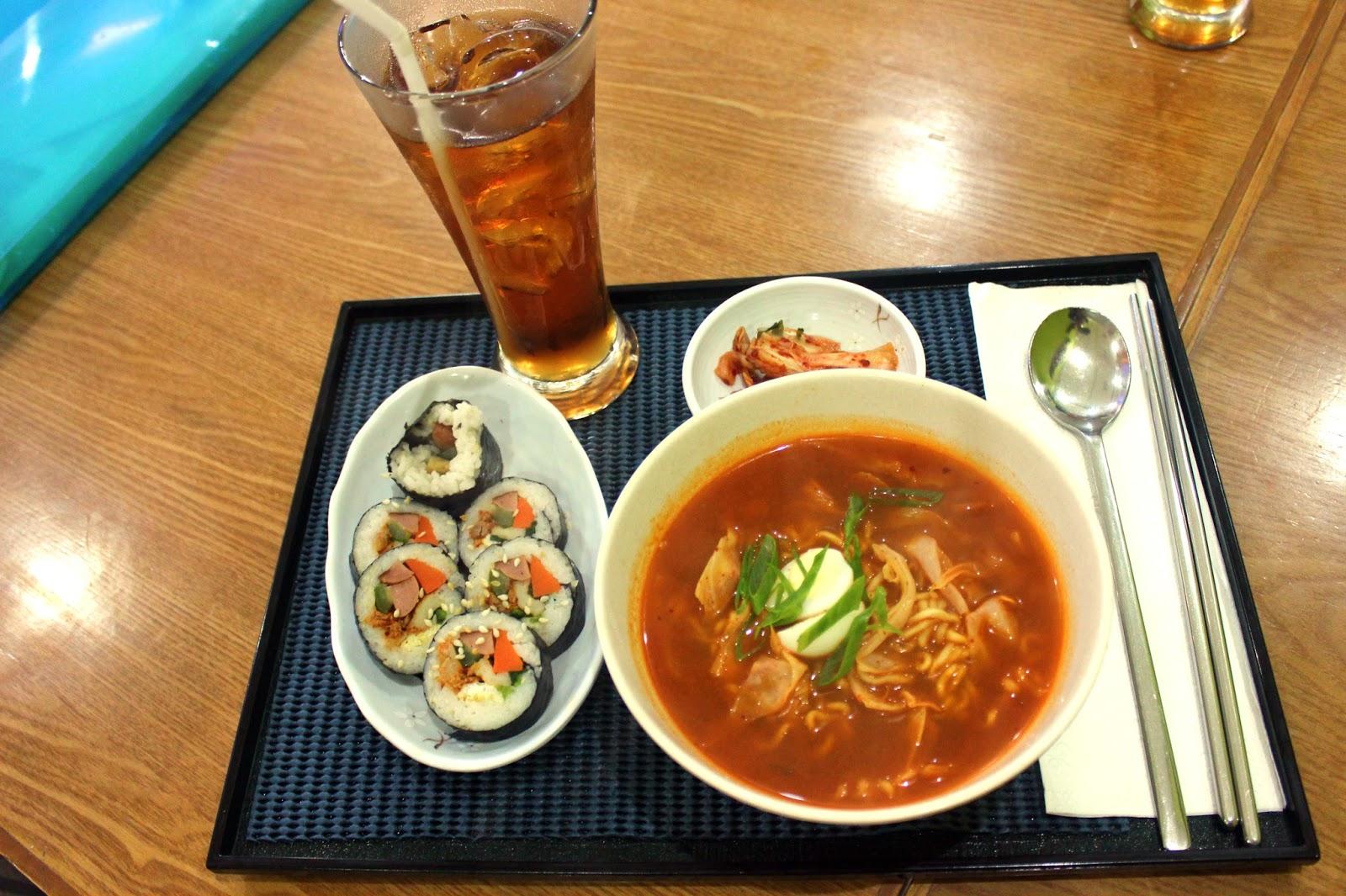 Image result for kimbab dan ramyeon