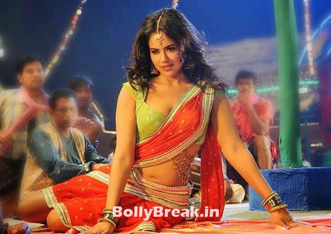 Sameera Reddy in Krishnam Vande Jagadgurum, Hot Stills from Item Songs of Telugu, Tamil South Indian Cinema