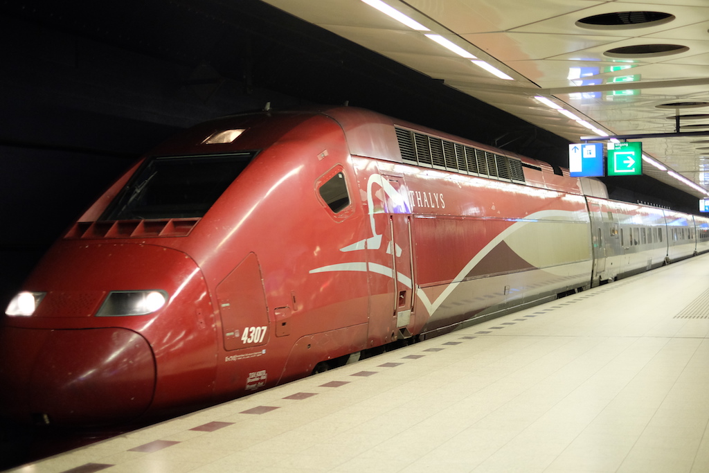 Thalys First Class Amsterdam Brussels Paris
