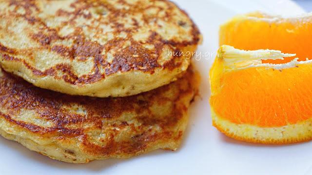 Orange Oatmeal Pancakes