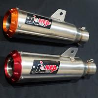 Knalpot racing produksi Indonesia menggunakan bahan stainless