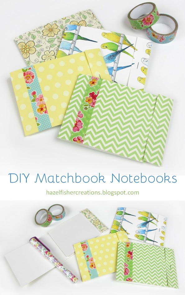 DIY Matchbook Notebooks tutorial by hazelfishercreations