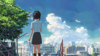 Screen szósty z Kimi no Na wa. x Suntory