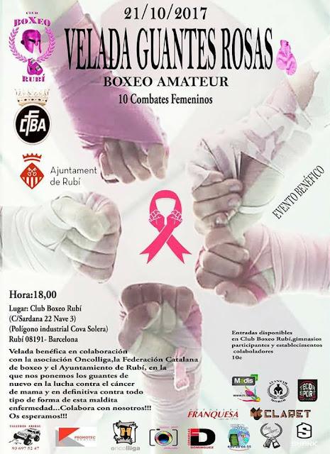 Esguard de Dona - Boxeo Amateur Femeni a benefici de la lluita contra el càncer de mama - Rubí 21 d'octubre de 2017