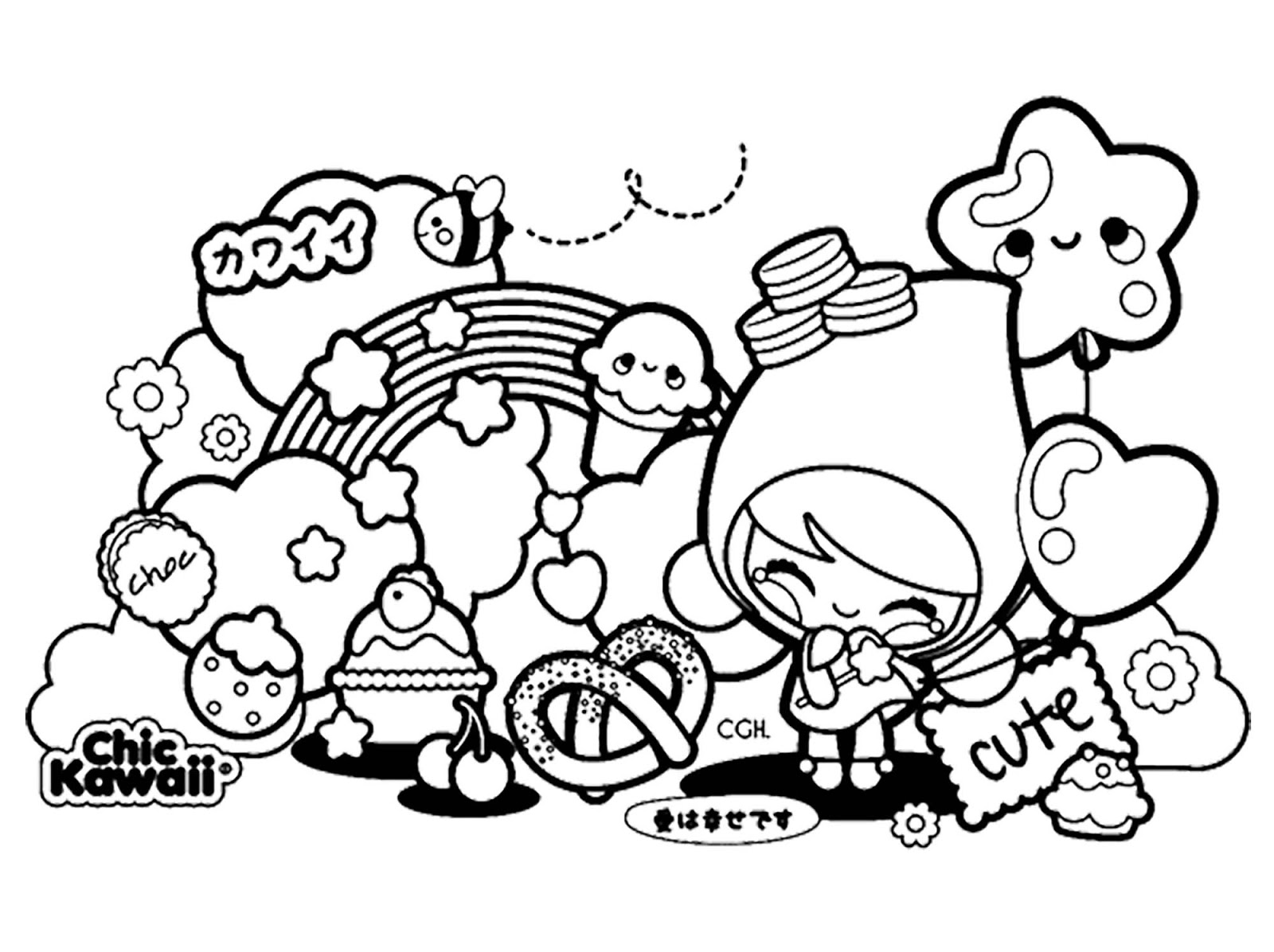 Dibujos Para Colorear Kawaii Disney Para Imprimir On Log Wall