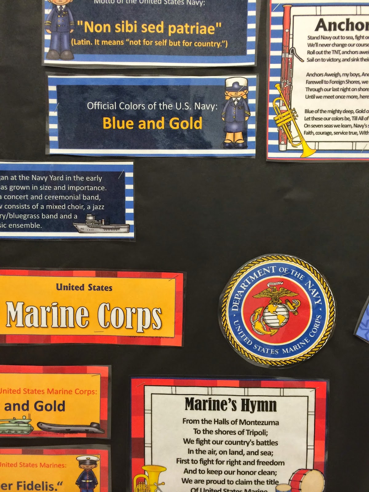 http://www.teacherspayteachers.com/Product/Armed-Forces-Bulletin-Board-Bundle-of-5-Sets-1505980