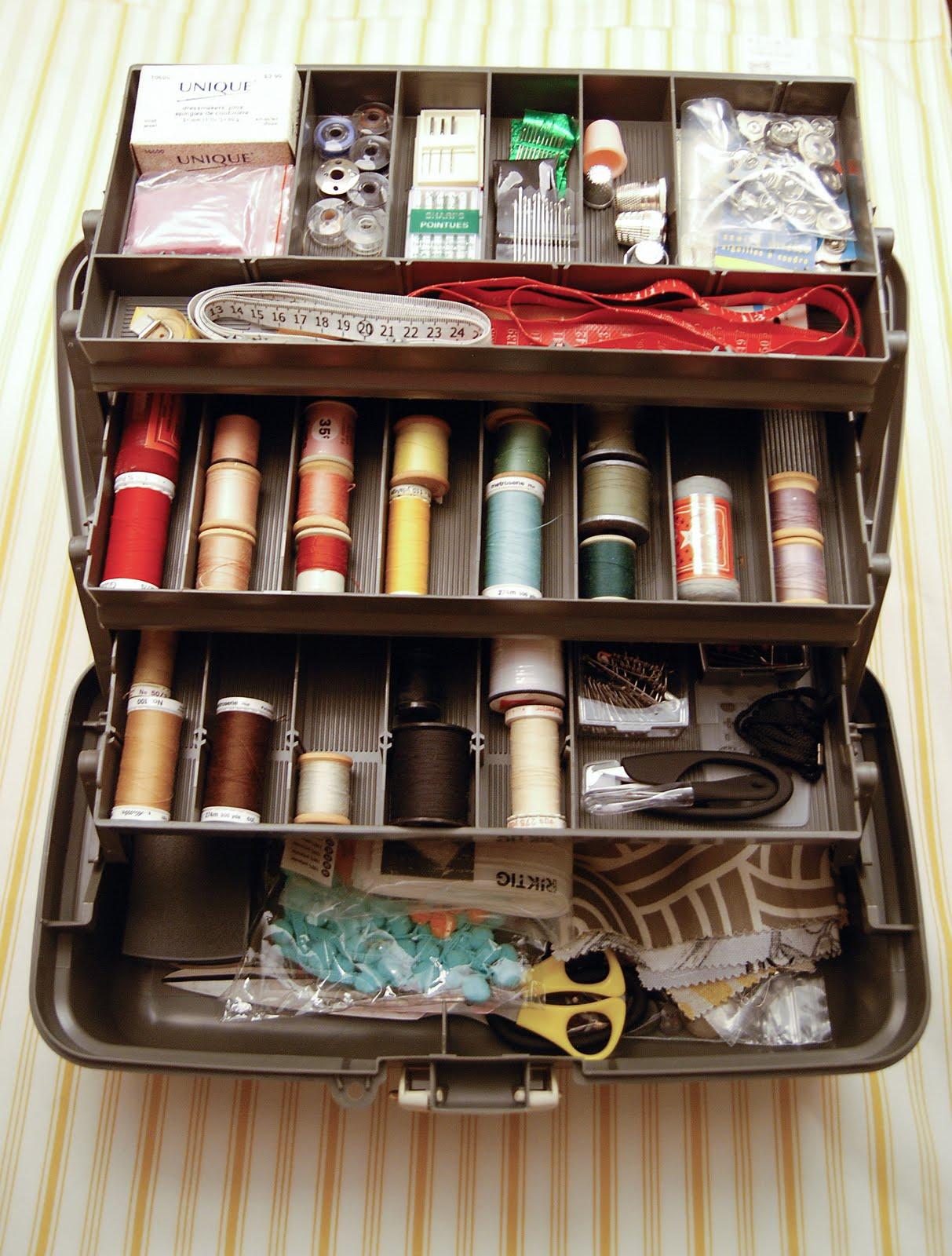 DIY Sewing Box Organizer - Rambling Renovators