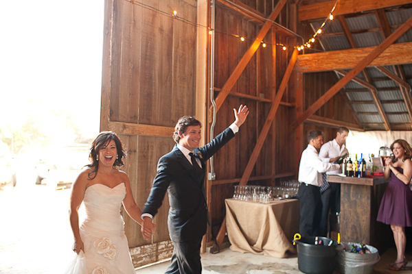 rustic foodie and wine lover wedding in solvang, california | Jen Rau Photography / Event Planning: The Green Ribbon Party Planning Co. / Caterers: Whoa Nelly Catering / Venue:  The Barn at Coquelicot Vineyard / Cake and Desserts: My Sweet and Saucy and SusieCakes / Floral Design: Brown Paper Design