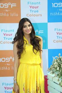 Athiya Shetty Looks So cute beautiful in Yellow skirt and Top