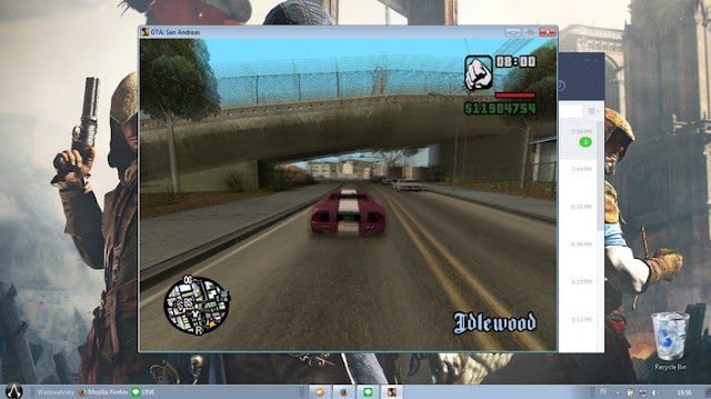 INILAH CARA MAIN GTA SAN ANDREAS PC DALAM WINDOW MODE