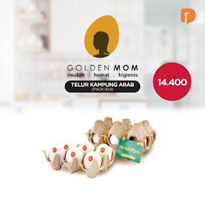 Golden Mom Telur Ayam Kampung Arab Isi 6 Butir