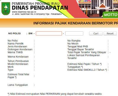 pajak stnk online riau