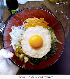 Im sorry about the egg on my bibimbap