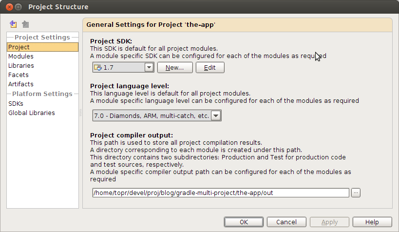 Multi module Gradle project with IDE support – Team Blog