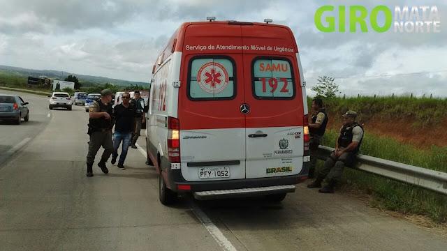 Carpina: Bandido é morto dentro da viatura do SAMU em Paudalho