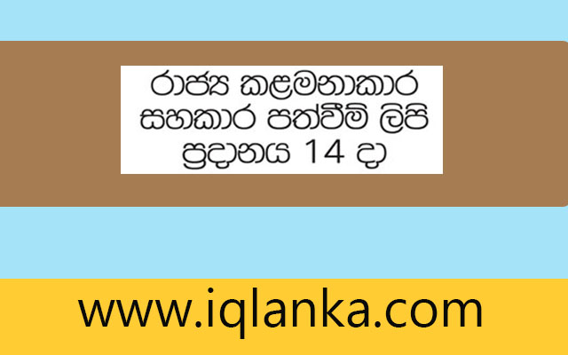 Management Assistant Appointment Letters -2018 | IQLANKA.COM