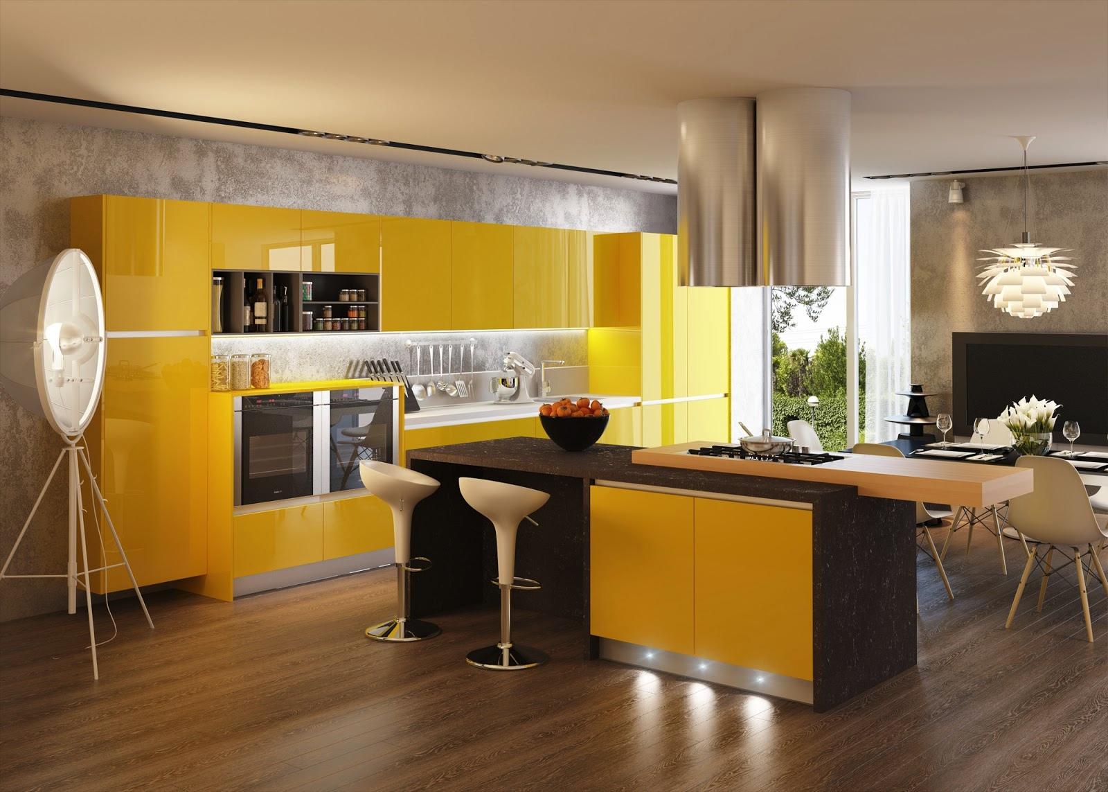 idees de combinaisons couleurs cuisine moderne
