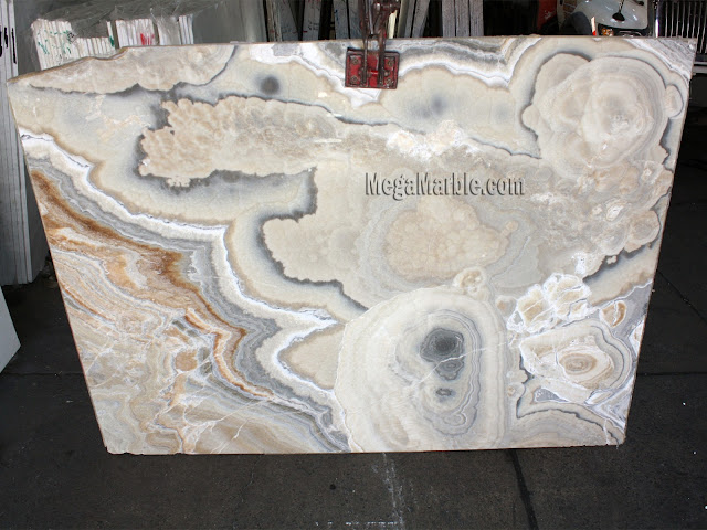 Silver Onyx slabs for countertop