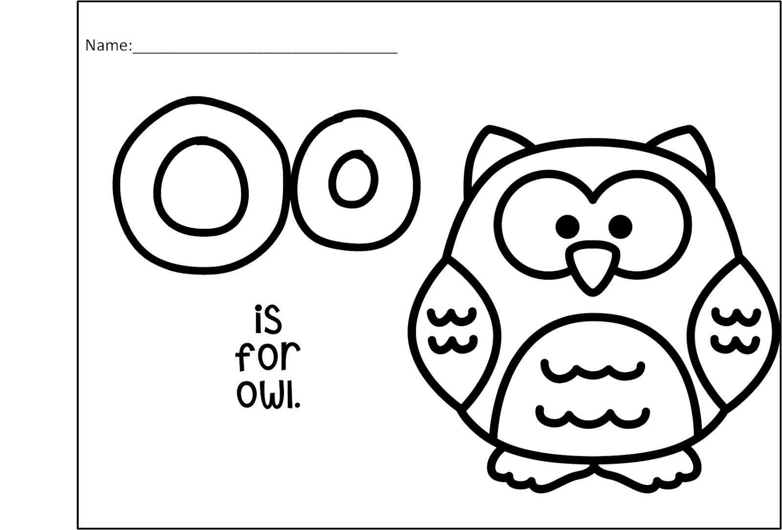 Little Owl S Night Preschool Book Companion Letter O