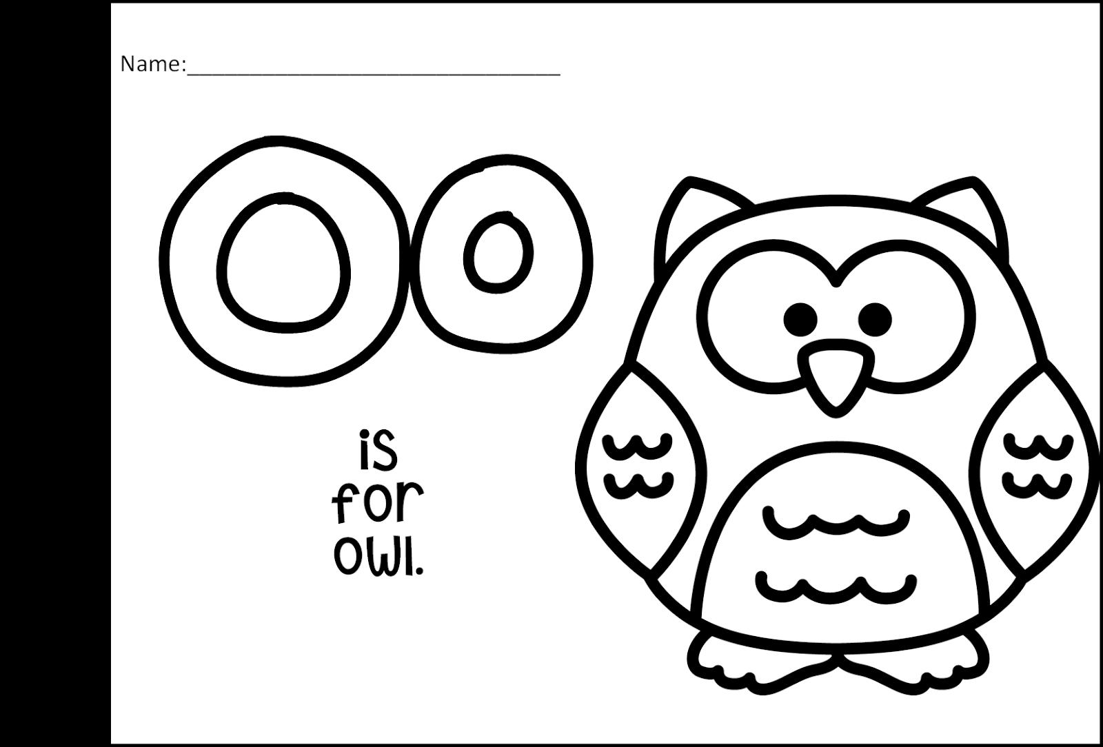 Little Owl S Night Preschool Book Companion Letter O