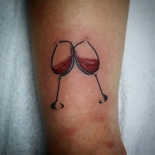 erkek bilek dövmeleri wine wrist tattoos for men