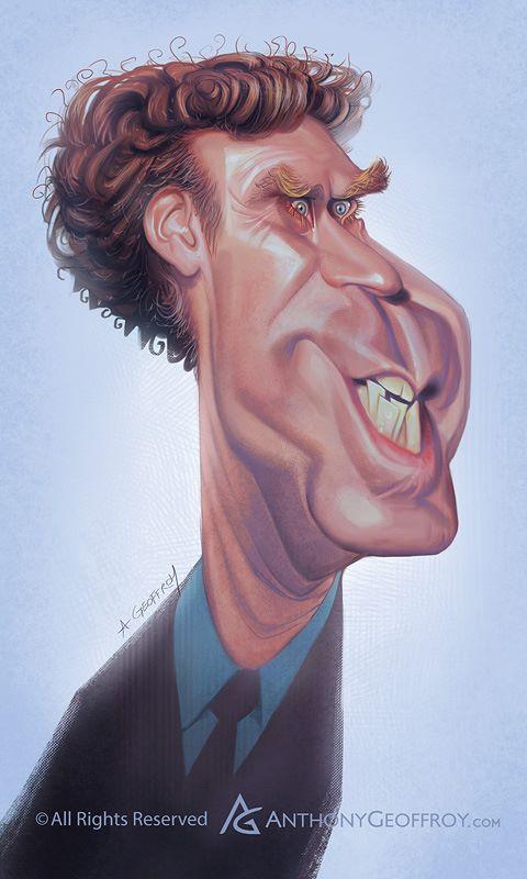 Will Ferrell por Anthony Geoffroy