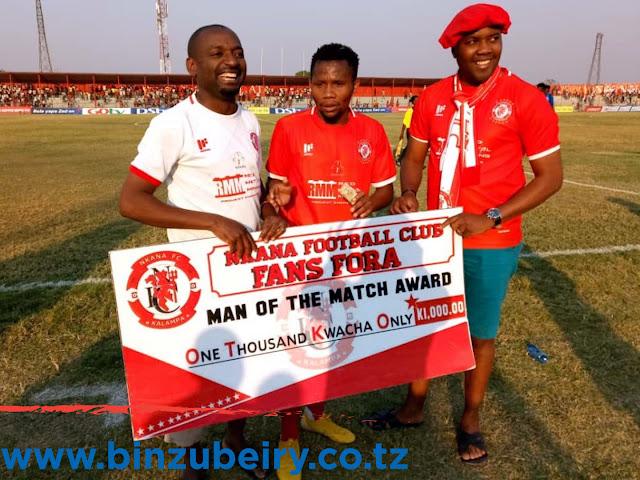 KESSY AWA MCHEZAJI BORA WA MECHI NKANA IKISHINDA 2-0 ZAMBIA