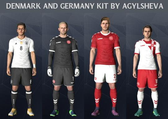 PES 2017 Germany And Denmark Kits 2017 By Agylsheva