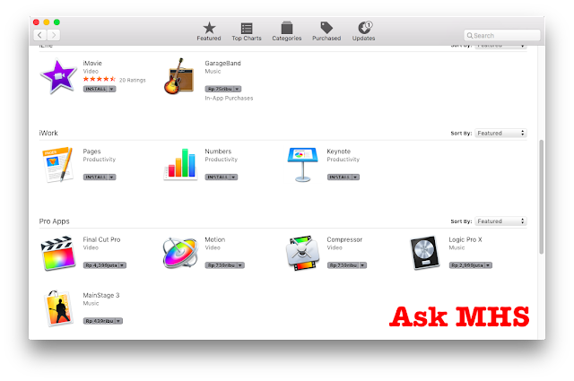 What are the Exclusive Apps That only exists in OS X