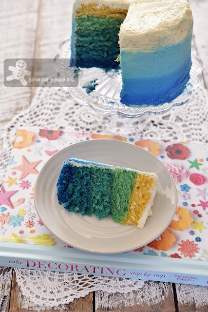 easy moist ombre cake