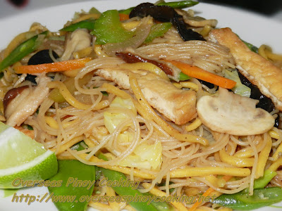 Vegetarian Mixed Pansit Guisado. Stirfried Vegtable Noodles
