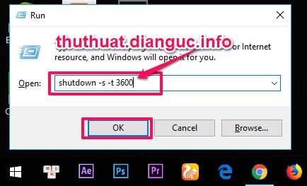 Hướng dẫn cách hẹn giờ tắt máy tính laptop win 7 8 8.1 XP
