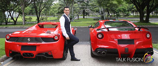 Mario Halim, bogat, lux, Talk Fusion, Ferrari